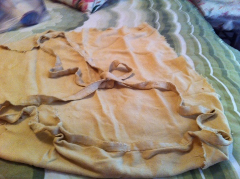 My yellow blanket (old, frayed, tattered, but still mine)